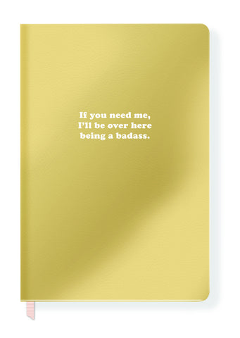 Being A Badass Journal in Gold Faux Leather
