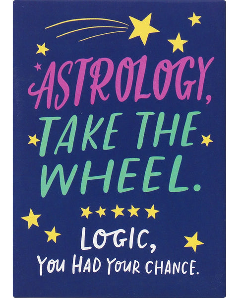 Astrology Take The Wheel Magnet in Midnight Blue