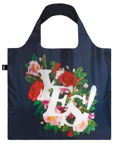 ANTONIO RODRIGUES Yes Tote Bag with Floral Design in Blue