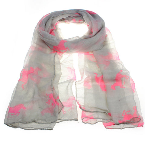All The Pretty Neon Horses Scarf