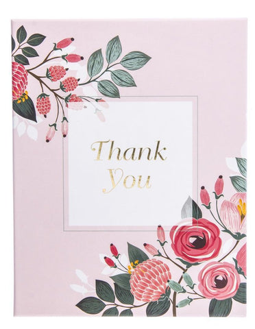 Thank You Vintage Floral Assorted Boxed Cards