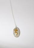 Not Your Maid Mermaid Necklace in Brass and Silver
