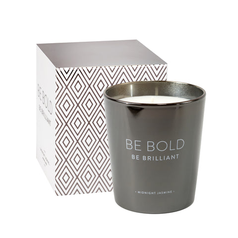 Be Bold Be Brilliant Soy Wax Candle in Midnight Jasmine Scent