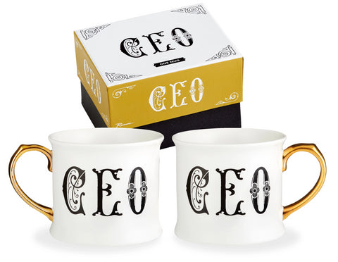 CEO Lithographie Mug in Porcelain with Gilded Handle
