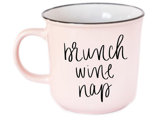 Brunch Wine Nap Campfire Mug in Stoneware