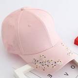 Plum Blossom Embroidered Snapback Cap