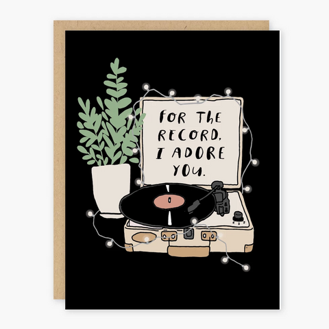 I Adore You Record Greeting Card
