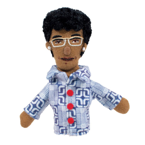 Shirley Chisholm Refrigerator Magnet and Finger Puppet Mini Doll