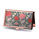Cray Floral Business Card Case in Rose Gold