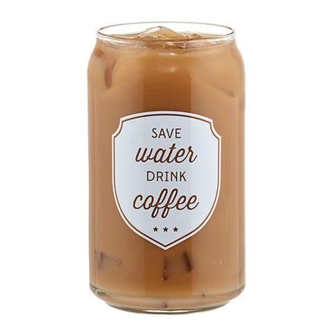 Save Water Drink Coffee Iced Coffee Glass | Funny Novelty Cup
