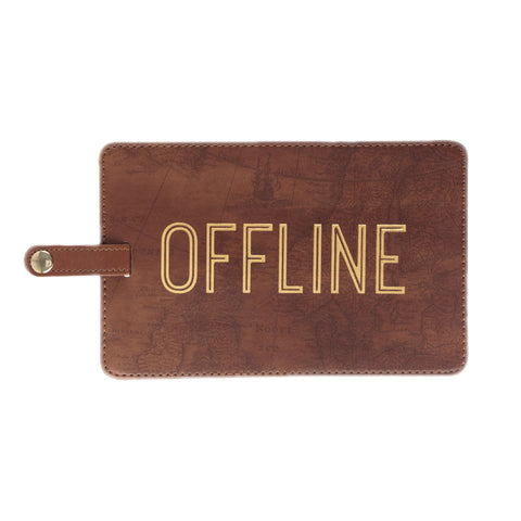 OFFLINE Jumbo Luggage Tag in Chocolate