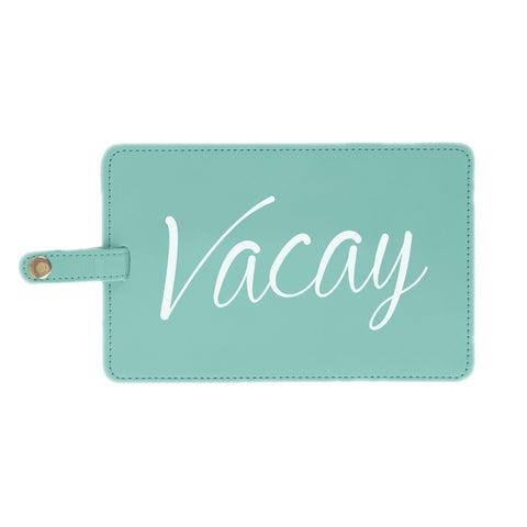 Vacay Jumbo Luggage Tag in Seafoam Green