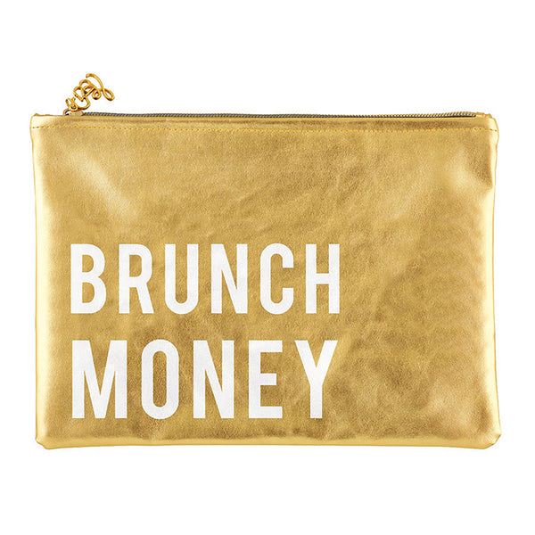 Brunch Money Gold Cute/Cool/Unique Zipper Pouch/Bag/Clutch/Cosmetic Bag