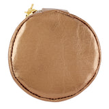 Copper Round Earbud/Phone Charger/Jewelry Cool Small/Mini Zip Coin/Change Purse/Bag/Pouch/Wallet