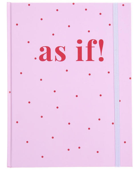 As If Spotted Hardbound Journal in Pink and Red
