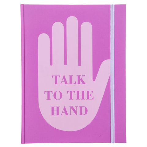 Talk to the Hand Hardbound Journal in Pink