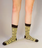 Gangsta Dress Crew Metallic Socks in Gold and Black
