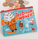Ice Cream Money Recycled Material Cool Small/Mini Zip Coin/Change Purse/Bag/Pouch/Wallet