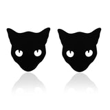 Double Black Cat Brooch Set