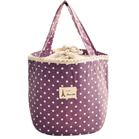 Adorbs Round Lunch Sack in Violet or Dusk