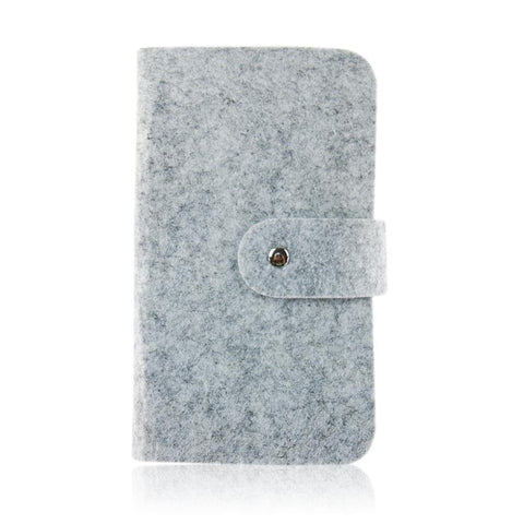 Felt Card Case in Gray or Hot Pink
