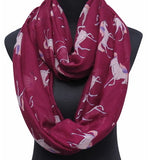 Red Unicorn Infinity Scarf