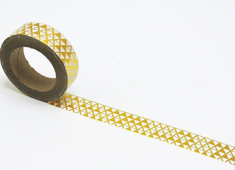 Gold Triangle Washi Tape in metallic trendy print