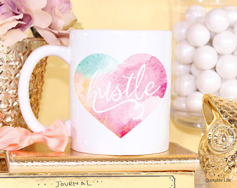 Hustle Watercolor Coffee Mug