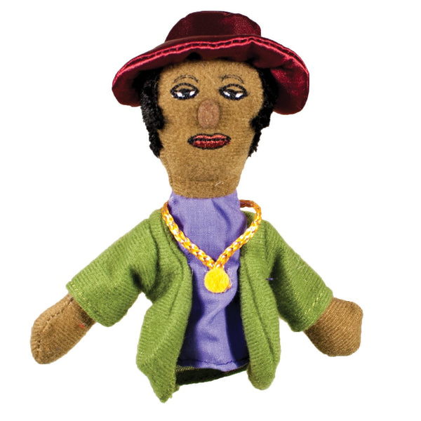 Zora Neale Hurston Refrigerator Magnet and Finger Puppet Mini Doll
