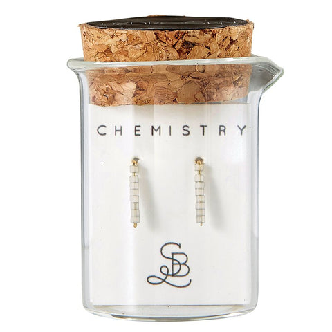 Gold Plated Hydrogen Chemistry Earrings | In a Glass Vial for Gift Giving