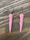 Bullicorn / Unicorn Horn Earrings in Pink