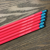 Feminist Unicorn Hex Pencils in Neon Pink Pack of 6 with Teal Accents
