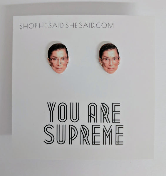 You Are Supreme Ruth Bader Ginsburg Stud Earrings