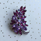 Massive Sparkle Brooch in Bullicorn Purple