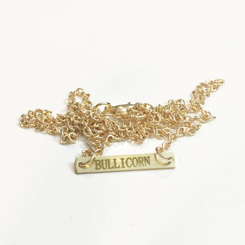 Bullicorn Gold Bar Necklace