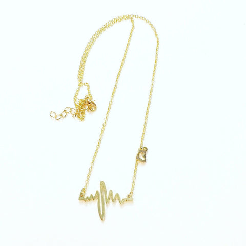 Every Heartbeat Necklace in Gold