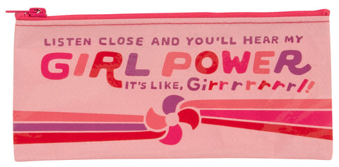 Listen Close And You'll Hear My Girl Power Recycled Material Cute/Cool/Best Zipper Pencil Case/Pouch/Holder/Pen Bag/Holder