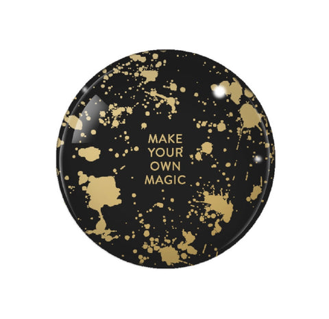Make Your Own Magic Glass Dome Paperweight in Black and Gold