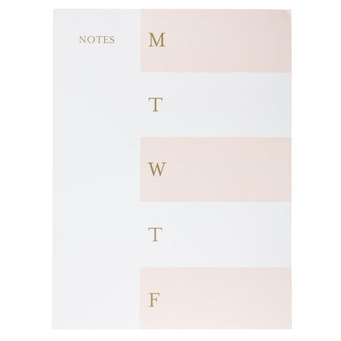 Blush Stripe Daily Minimalist Planner Notepad