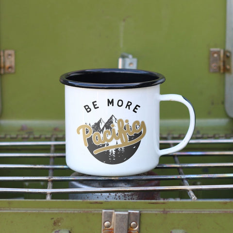 Be More Pacific Enamel Camping Coffee Mug