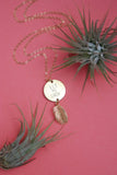 Let Me Grow Palm Necklace in Gold