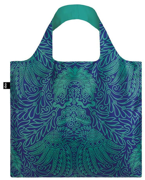 MAD Japanese Decor Tote Bag in Japanese Decor Print in Blue and Green
