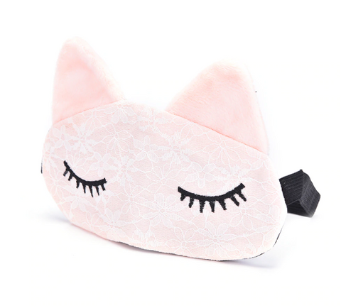 Microfiber Lace Sleep Mask in Pink
