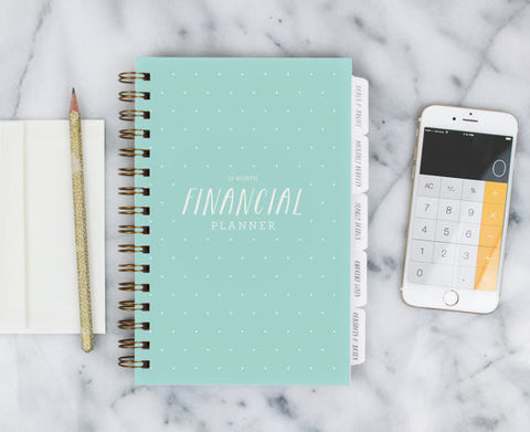 Financial Planner – 12-month Fill-in the Date Planner for saving, budgeting and planning ahead in Mint