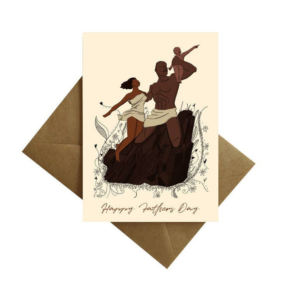 African American Family Monumental Happy Fathers Day Card