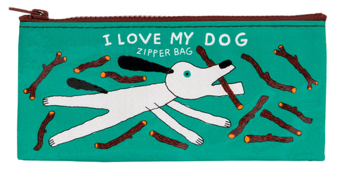 I Love My Dog Recycled Material Cute/Cool/Best Zipper Pencil Case/Pouch/Holder/Pen Bag/Holder