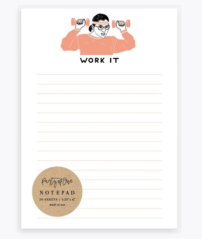 Work It Ruth Bader Ginsburg Notepad