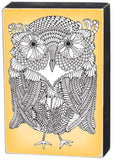 Color it Yourself Owl Sign with Canary Yellow Background