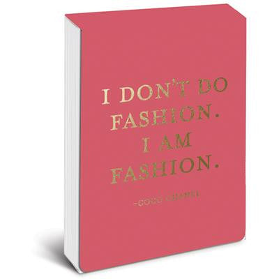 I Am Fashion Pocket Note in Rose and Metallic Gold Foil