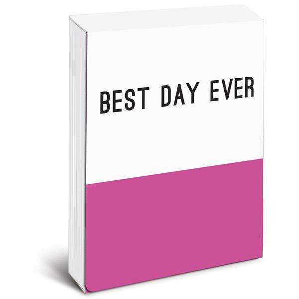 BEST DAY EVER Pocket Note in Pink and White
